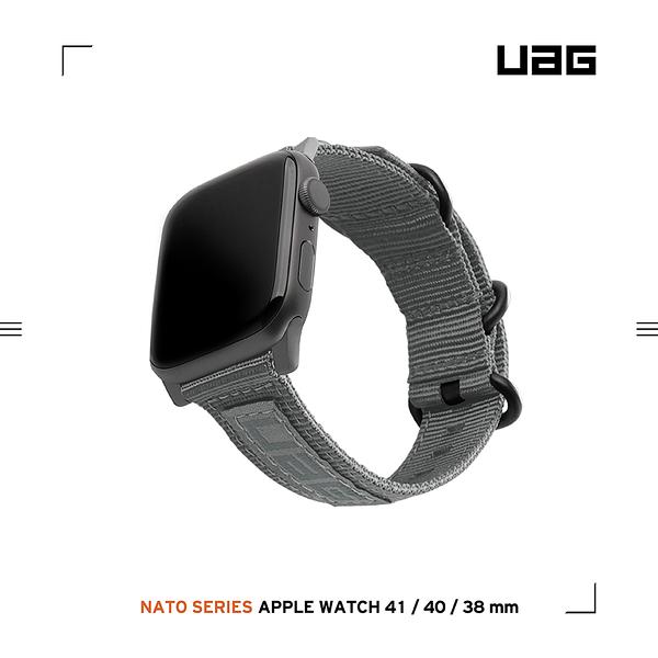UAG Apple Watch 38/40/41mm Nato尼龍錶帶-灰