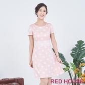 【RED HOUSE 蕾赫斯】點點蕾絲洋裝(粉色)