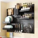 廚房掛壁碗櫃免安裝墻壁置物架碗碟瀝水架小型迷你北歐筷子瀝水架
