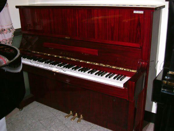 【HLIN漢麟樂器】-日本原裝kawai河合123號直立式中古二手鋼琴-原木-亮黑-豪華23