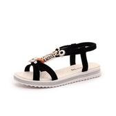 夏季涼鞋休閒鞋韓版時尚潮露趾平跟學生羅馬鞋百搭防滑女鞋子 米希美衣