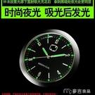 車載時鐘汽車車載時鐘儀錶台鐘錶車內飾電子鐘石英錶擺飾改裝時間錶 【快速出貨】