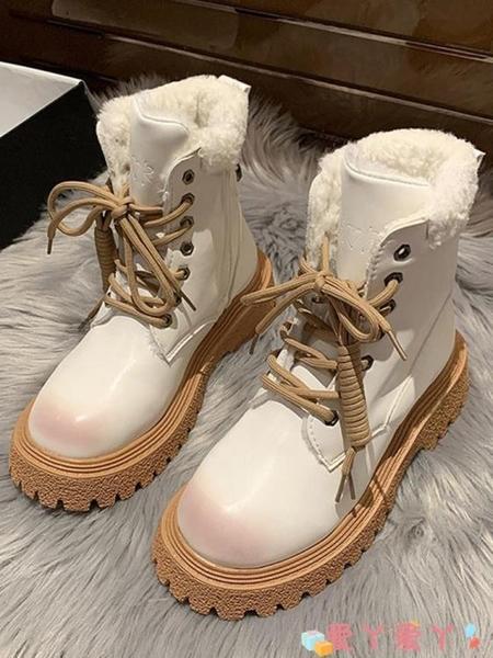 馬丁靴 馬丁靴女英倫風2021冬季新款百搭保暖網紅瘦瘦雪地靴子潮 愛丫愛丫