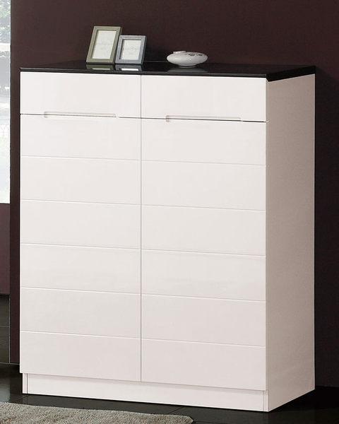 【南洋風休閒傢俱】組合櫃系列 -實木玄關櫃 收納  亞伊2.6尺白色鞋櫃(JH563-3)