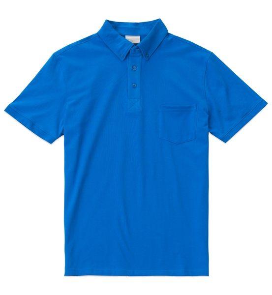 【限宅配】HYPER HEROES 男版短袖口袋款POLO衫-孔雀藍 CL1SSM403 (購潮8)