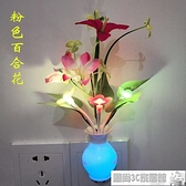 小夜燈 LED七彩蘑菇小夜燈光控感應插電臥室床頭喂奶起夜過道走廊夜光燈 風尚