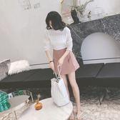 chic短裙女夏季新款高腰雪紡半身裙a字裙復古傘裙ins超火裙子艾美時尚衣櫥