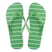 HOLA home舒活夾腳拖鞋 條紋綠色 L