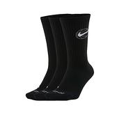 NIKE 男襪子(長襪 休閒 籃球 訓練 Dri-FIT 三入  ≡排汗專家≡