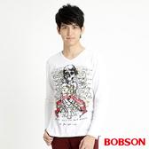BOBSON 男款骷髏印圖長袖上衣(32018-80)