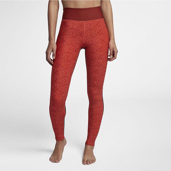 Hurley HURLEY SURF CHEETAH MESH LEGGING 長褲-LEGGING-紅(女)