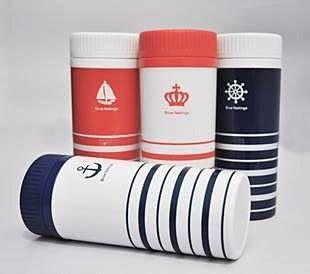 【發現。好貨】2015 新款塑料水杯 海軍風雙層保溫杯 隨手杯 防漏水杯 300ML f