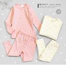 韓版小碎星滿版棉質套裝 兒童套裝 內磨毛 兒童睡衣 女童套裝 星星 長袖上衣 長褲 長袖套裝