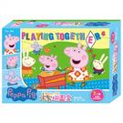 《 Peppa Pig 》木製拼圖盒 粉紅豬小妹 / JOYBUS玩具百貨
