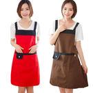 圍裙 韓版時尚可愛圍裙成人女廚房做飯防水罩衣長袖大人工作服可定制   麻吉鋪