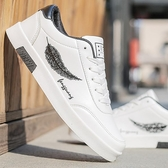 秋季男鞋潮鞋學生小白鞋韓版百搭帆布休閒鞋男士運動鞋子潮流板鞋   蘑菇街小屋