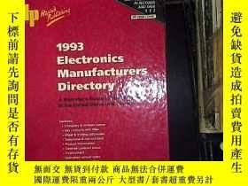二手書博民逛書店1993electronics罕見manufacturers d