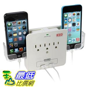 [106美國直購] EZOPower UL 插座 Certified Wall Mount Power Surge Protector with 3 AC Outlet Plug