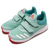 adidas 慢跑鞋 FortaRun CF K 藍 白 緩震舒適 魔鬼氈 運動鞋 童鞋 中童鞋【PUMP306】 BY8989