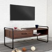 YoStyle 盧卡斯工業風4尺單抽電視櫃 接待桌 矮桌 茶几 矮櫃 工作桌