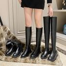 瘦版長靴女過膝顯瘦2020新款春秋單款小個子高筒靴厚底軟皮長筒靴 小山好物