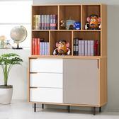 Homelike 莫尼卡4尺收納書櫃