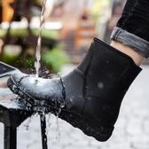 雨鞋 歐美時尚男雨鞋中筒雨靴防滑水鞋短筒加絨膠鞋廚房洗車釣魚工作鞋 瑪麗蘇