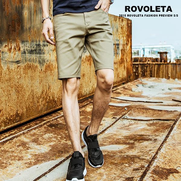 質感金屬標短褲【RSC-88150】(ROVOLETA)