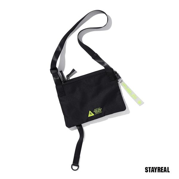 【橘子包包館】STAYREAL PLAN A 探索A多口袋側背包 BI19020 黑色 斜背包