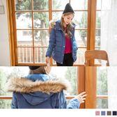 《EA2317》仿皮草連帽修身高填充羽絨外套 OrangeBear