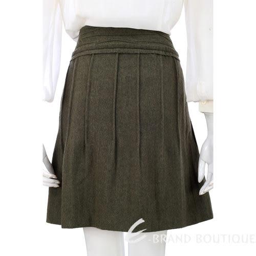 PHILOSOPHY  綠色立體花飾毛料及膝裙 0730179-08