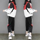 2019秋冬新款學生寬鬆嘻哈棒球服外套休閒洋氣運動套裝兩件套女潮  晴光小語