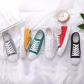 韓版潮流低幫帆布鞋男學生運動休閒鞋百搭板鞋男夏季透氣情侶鞋子 依凡卡時尚