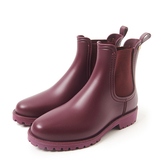 Petite Jolie  經典風尚切爾西短靴-紫紅