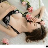 《VA563》花卉印花拼接蕾絲U型鋼圈成套內衣+內褲 OrangeBear