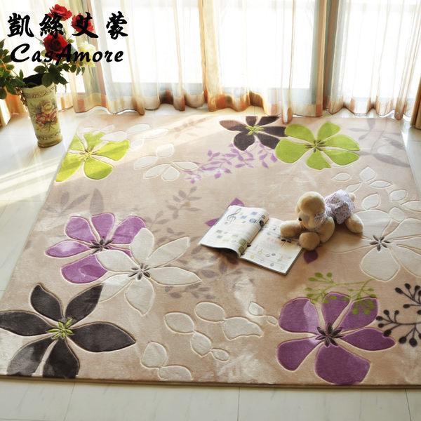 現代歐式田園客廳地毯加厚臥室滿鋪床邊飄窗毯沙發茶幾墊igo『潮流世家』