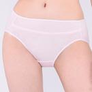 思薇爾-牛奶紗系列M-XXL素面中腰三角內褲(柔粉色)