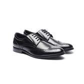Waltz-雅致雕花小尖頭紳士鞋612038-02黑