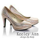 ★23碼 /24碼 /24.5碼-零碼出清★Keeley Ann 完美曲線水鑽真皮軟墊高跟鞋(金色)