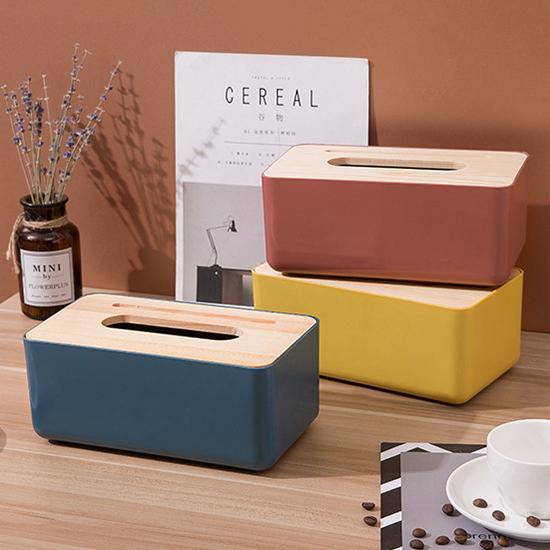 紙巾盒 橡木蓋 竹木蓋 收納盒 整理盒 抽取式 塑料蓋 北歐風 摩登簡約 面紙盒【A011-1】米菈生活館