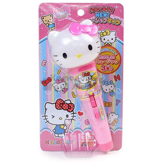 〔小禮堂〕Hello Kitty 麥克風玩具《粉.大臉.泡殼裝》3歲以上適用 4971413-01347