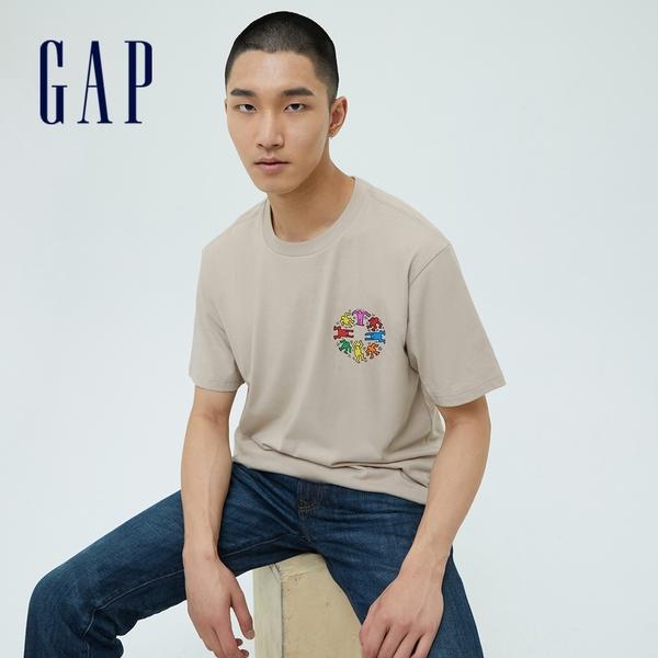 聯名系列 時尚印花圓領短袖T恤