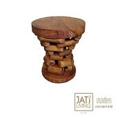 【吉迪市柚木家具】樹幹造型椅凳 EFACH022B樹幹造型椅凳