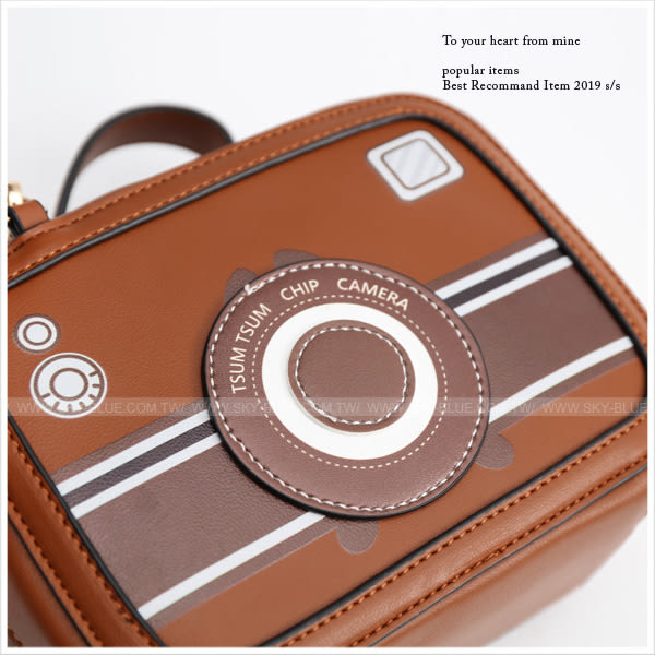 斜背包-迪士尼系列tsum tsum相機造型斜背方包-共9色-A17173071-天藍小舖