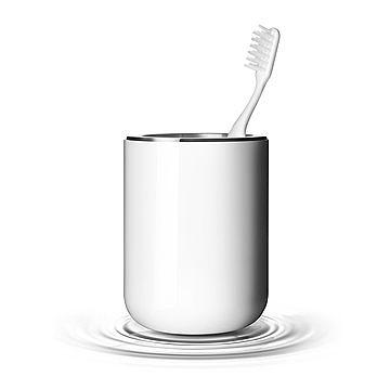 丹麥 Menu Toothbrush Holder, Norm 衛浴系列 牙刷杯(亮白色)