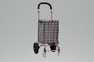 [ 家事達 ]台灣 GTMH- H-001N 鋁製購物籃車(玫瑰金)+購物袋 特價