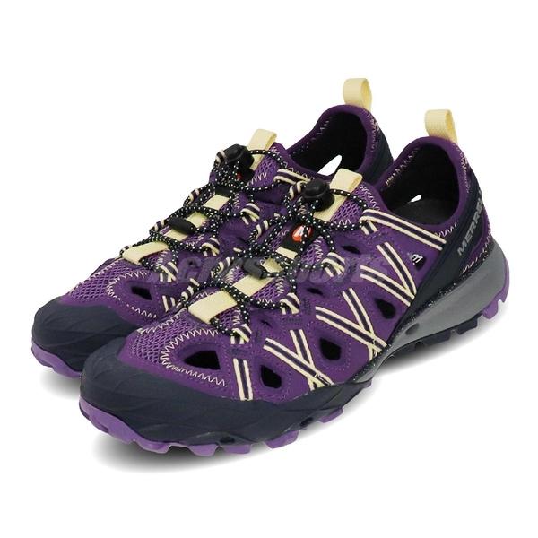 Merrell 戶外鞋 Choprock Shandal 紫 黃 女鞋 越野 登山 休閒鞋 【ACS】 ML034174