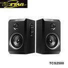 T.c.star 連鈺 勁黑木質二件式電腦多媒體喇叭 TCS2500