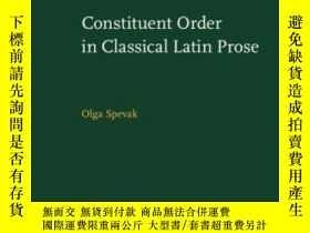 二手書博民逛書店Constituent罕見Order In Classical