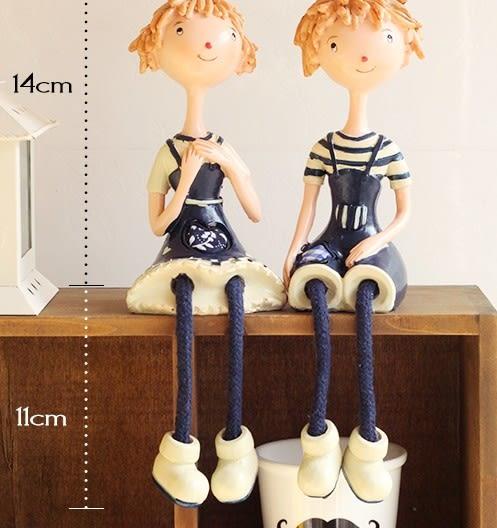 [協貿國際]海軍情侶吊腳娃娃擺設單組價(2隻1組)